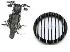 BLACK HEADLIGHT ALUMINUM COVER Harley Dyna Sportster Softail 48 883 1200