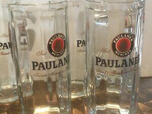 SIX - PAULANER MUNCHEN BEER STEIN / MUG / Tankards - GLASSES NEW