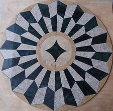 """Marble Travertine Tile Medallion Design Stone 34"""" #25"""