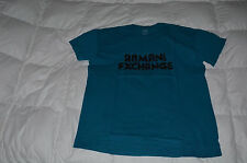 Authentic AX Armani Exchange Mens Short Sleeve Tee Blue Green  Size L