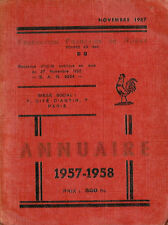 FRENCH FEDERATION RUGBY ANNUAL 1957-1958