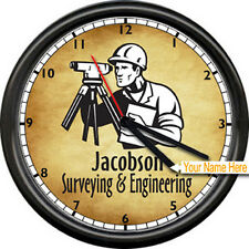 Surveyor Surveying And Engineering Land Tools Personalized Vintage Wall Clock