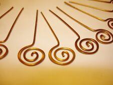 Greek Drop Earrings/Pendants-Head Pins-Findings 18 Spiral Hammered Gold Plated