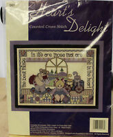 """Heart's Delight Counted Cross Stitch Kit - The Best Things in Life 10"""" x 8"""" NEW"""