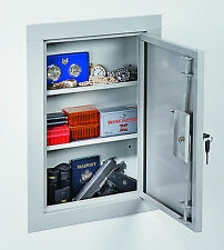 Stack-On IWC-22 Mid-Sized In Wall Gun Storage Vault Cabinet Safe Key Lock