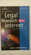 Legal Research via the Internet by Valerie J. Atkinson (2000, Paperback)