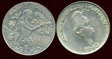 TUNISIE TUNISIA   1 dinar 1990    ( ca )