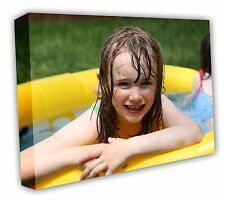 CANVAS PRINT YOUR PHOTO ON LARGE PERSONALISED BOX 40MM DEEP FRAMED 30X20IN