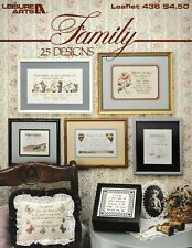 Family Cross Stitch Mother Father Daughter Son | Leisure Arts 436