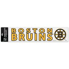 Boston Bruins 4 x 16 Inch Perfect Cut Window Decal Strip Color