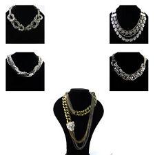 Crystal Rhinestone Chunky Costume Necklaces & Pendants