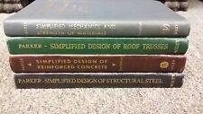 4 Simplified Design books, Reinforced Concrete , Strength of Materials, Etc
