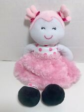 Baby Starters Girl Doll Pink Minky Tutu Dress Polka Dots Pig Tails Lovey Plush