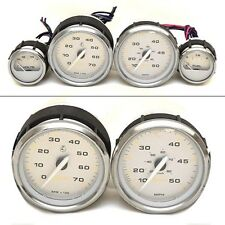 Faria Boat Gauge Set | Silver (4 Piece)