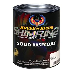 House of Kolor S225 Jet Black Shimrin2 Solid Basecoat (Quart)