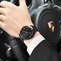 PANARS Fashion Men Big Thin Dial Watch Stainless Steel Analog Quartz Wristwatch
