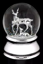 Musical Wind Up Water Ball Snow Globe with Reindeer Fawn Christmas Decoration