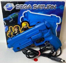 Original SEGA Saturn Virtua Gun Controller Gamepad Blau gebraucht in OVP