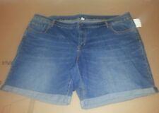 Old Navy Womens Plus Size 26 Blue Jean Denim Shorts