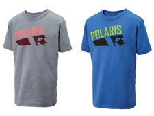 New OEM Polaris Youth All In Tee - Gray/Red or Blue/Lime