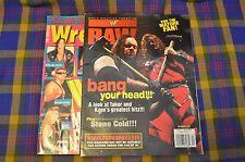 Pair of Vintage WWF RAW & The Wrestler Magazines-Dec 1998 & Sept 1997