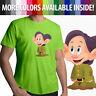Snow White 7 Dwarfs Dopey Disney Short Sleeves Mens Crew Neck Tee Unisex T-Shirt