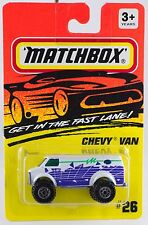Matchbox MB 26 Chevy Van White Thailand Casting 1995 Mint On Card