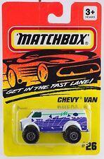 Matchbox MB 26 Chevy Van White Thailand Casting 1995 Mint On Card