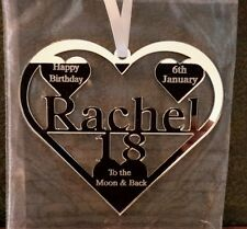 18TH BIRTHDAY GIFT TO THE MOON & BACK PERSONALIED WITH NAME AND DATE