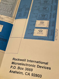 ROCKWELL AIM-65 INTERACTIVE MAP OF LAYOUT POSTER IN GOOD CONDITION FOLDED #1