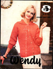 Vintage Wendy Knitting Pattern, Ladies chunky Jacket, 34-38in, 42