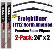 Wiper Blades 2-Pack Premium - fit 1996-2003 Freightliner FL112 - 19240x2
