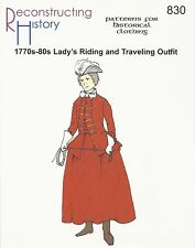 Schnittmuster RH 830 1770s-1780s Lady's Riding Outfit