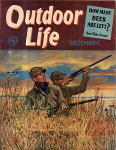 1940 Outdoor Life December - New York to Nome by Canoe; Currituck; Raccoon hunt