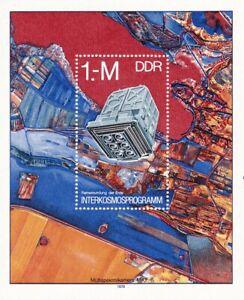 Block DDR Michel 52 postfrisch 'Interkosmosprogramm'