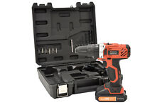 18V Cordless Combi Hammer Drill Set With Charger Bits Home Garage DIY Trade