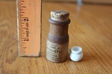 Vintage Toy Medicine bottle wood Sure Cure for that Distressed feeling & pitcher