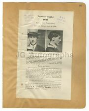 Wanted Posters - 2 Vintage Wanted Posters - Kansas State Penitentiary - 1909