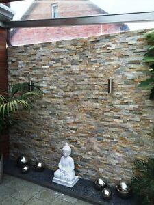 1 Muster Natursteinwand Marmor Quarzit Wand Verblender beige  Fliesen (35€/m²)