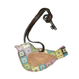 Fossil Purse Tag Hanger Charm Bird Key