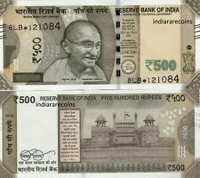 India 500 Rs Star Replacement Patel 2018 8Lb F Inset Paper Money Bank Note Unc