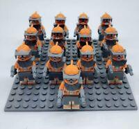 13x Bomb Squad Orange Clone Trooper Mini Figures (LEGO STAR WARS Compatible)