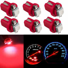10x T5 B8.5D 5050 1 SMD LED Dashboard Dash Gauge Instrument Light Bulbs Red New