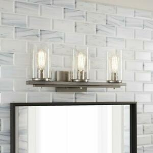 Home Decorators Collection Boswell Quarter 3-Light Brushed Nickel Vanity Light