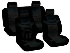 All Black Seat Covers Superior PU Synthetic Leather Steering Wheel 13pc CS1