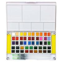 Watercolor Paint Set - 48 Assorted Watercolors -Travel Watercolor Kit Portable