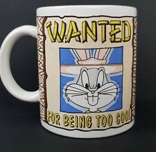 Looney Tunes Bugs Bunny Coffee Mug Wanted For Being Too Cool 1994 Free Postage