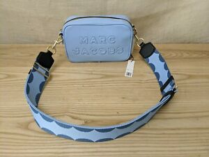 NWT Marc Jacobs The FLASH LEATHER CROSSBODY - M001446542 - Crystal Blue