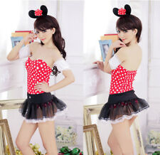 Lady Women Minnie Mouse Costume Halloween Fashion Outfit Clubwear  Dress Cosplay