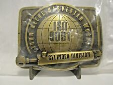 *1995 John Deere Harvester Works Cylinder Div ISO 9001 Belt Buckle Ltd Ed 1/500